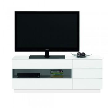 Jahnke TL 6153 Plasma LCD LED TV Rack Hochglanz-Weiss