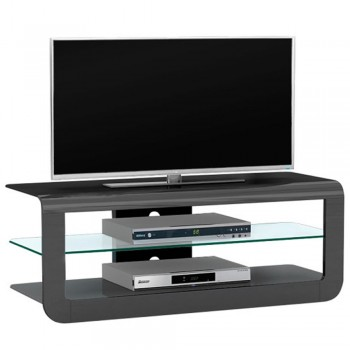 Design TV-Rack 1644 mit Glasboden