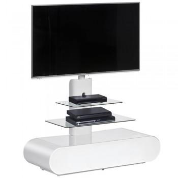 TV Standfuß 1635 für Monitore bis 60 Zoll mit gerundeten Design Weiß