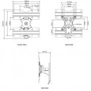 Wandhalterung für Plasma LCD Monitore BTV502 Schwarz