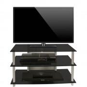 VCM LCD LED TV Rack Sindas Schwarzglas