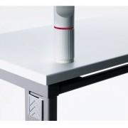 Novus Kunststoffschraubplatte Lichtgrau