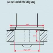 Novus TSS545K Säule mit Kabellochbefestigung