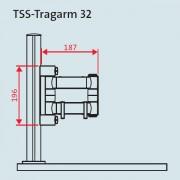 Novus TSS Tragarm32 für TSS Säulen