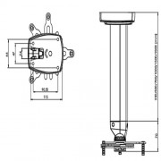 Projektordeckenhalter XCLF1000 Alu/Weiß