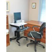 Ergotron WorkFit-C Sitz Steh Arbeitsplatz bis 24 Zoll Monitore