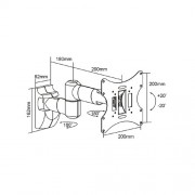 TV Wandhalter für LCD LED Monitore 17 bis 37 Zoll CC9-6L/SL Silber