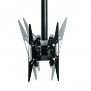 B-Tech Dual Monitor Deckenhalter BT8428 bis 50 Zoll Chrom / 150 cm