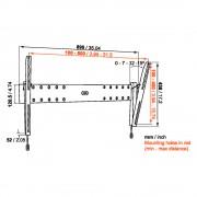Vogels Base 15 L neigbare Wandhalterung für 40-65 Zoll Monitore