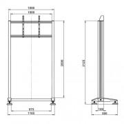TV Standfuß MR2000 für LCD LED Monitore