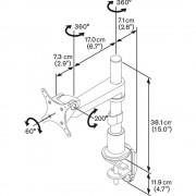 Vogels PFD 8522 Tischhalterung für 10 - 26 Zoll Monitore