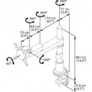 Vogels PFD 8523 Tischhalterung für 10 - 26 Zoll Monitore