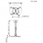 Vogels PPC 2540 Beamer Projektor Deckenhalter