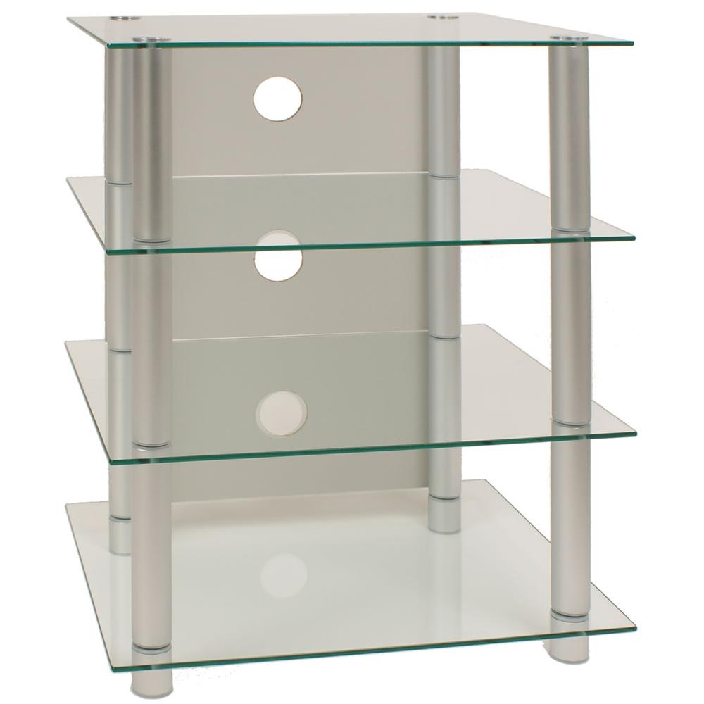 vcm tv hifi rack blados klarglas ebay. Black Bedroom Furniture Sets. Home Design Ideas