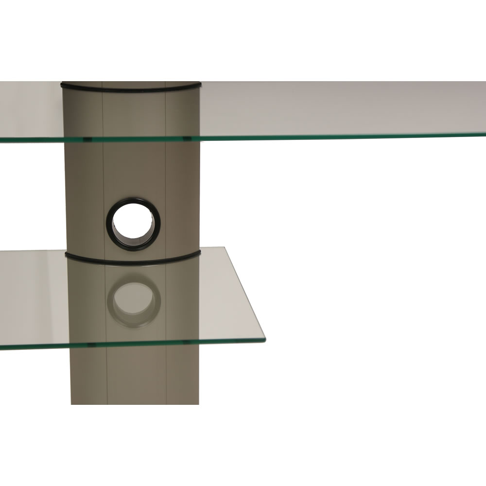 vcm lcd led tv rack mit halterung bulmo f r 32 50 zoll klarglas 14210. Black Bedroom Furniture Sets. Home Design Ideas