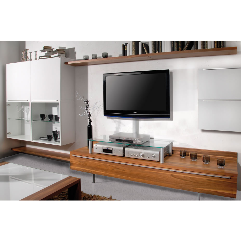 vcm felino mini tv rack glasaufsatz 16630. Black Bedroom Furniture Sets. Home Design Ideas