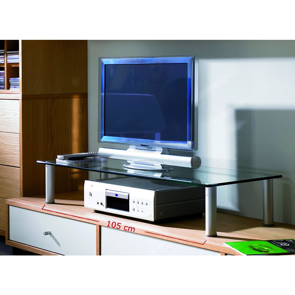 vcm felino mini tv rack glasaufsatz 16630. Black Bedroom Furniture Sets. Home Design Ideas