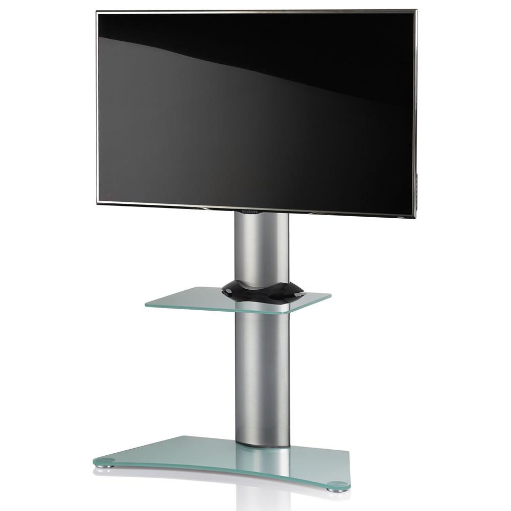 vcm findal tv standfu f r monitore von 22 37 zoll mattglas mit glaszwischenboden 17045. Black Bedroom Furniture Sets. Home Design Ideas
