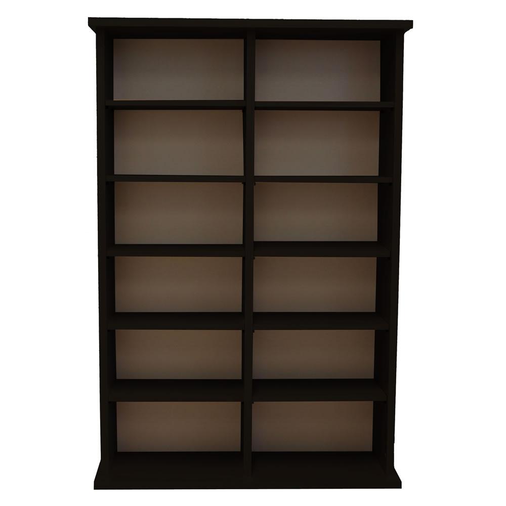 cd dvd schrank vcm ronul ohne glast r schwarz ebay. Black Bedroom Furniture Sets. Home Design Ideas