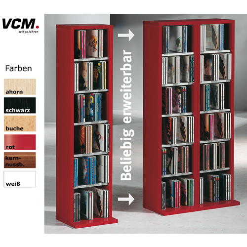 cd dvd schrank vcm elementa. Black Bedroom Furniture Sets. Home Design Ideas