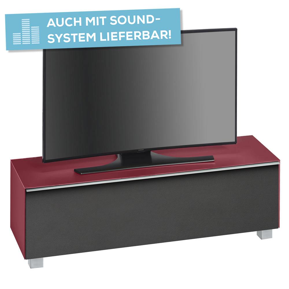 lowboard soundconcept mit akustikstofffront breite 140 cm. Black Bedroom Furniture Sets. Home Design Ideas