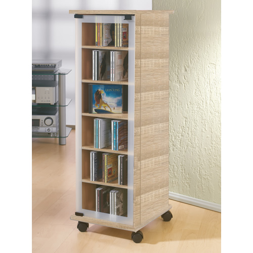 cd dvd schrank vcm valenza sonoma eiche saegerau 30029. Black Bedroom Furniture Sets. Home Design Ideas