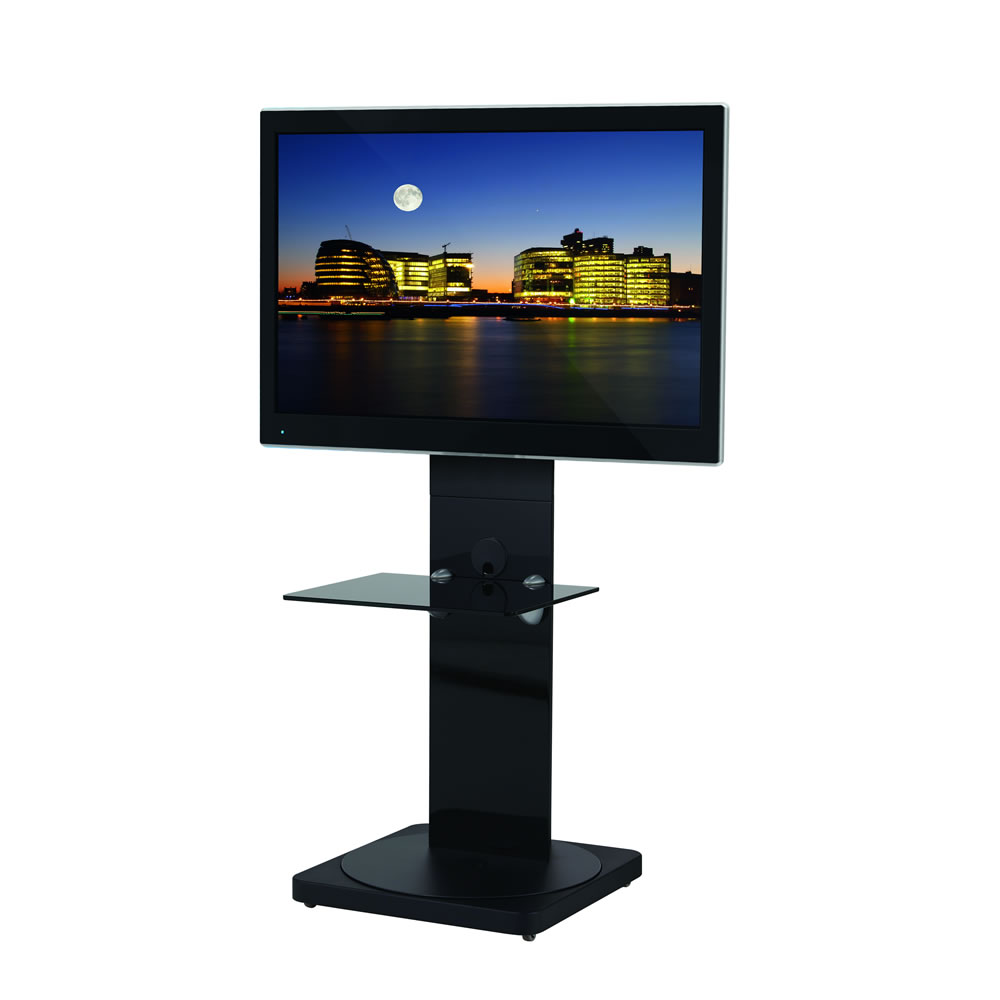btf811 tv standfu f r monitore bis 46 zoll schwarz btf811 bb. Black Bedroom Furniture Sets. Home Design Ideas