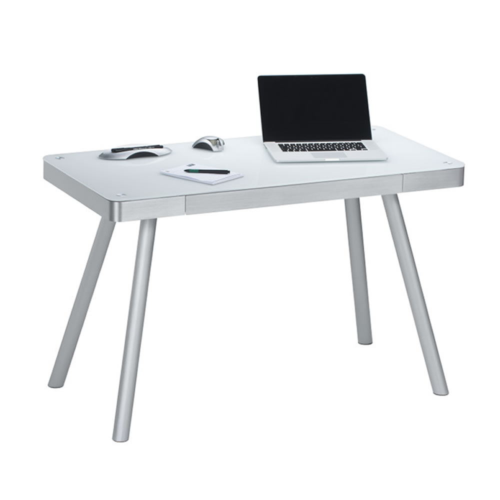 Computer- und Schreibtisch 5000 mit Notebook Schublade Weiß-CSS-50009446