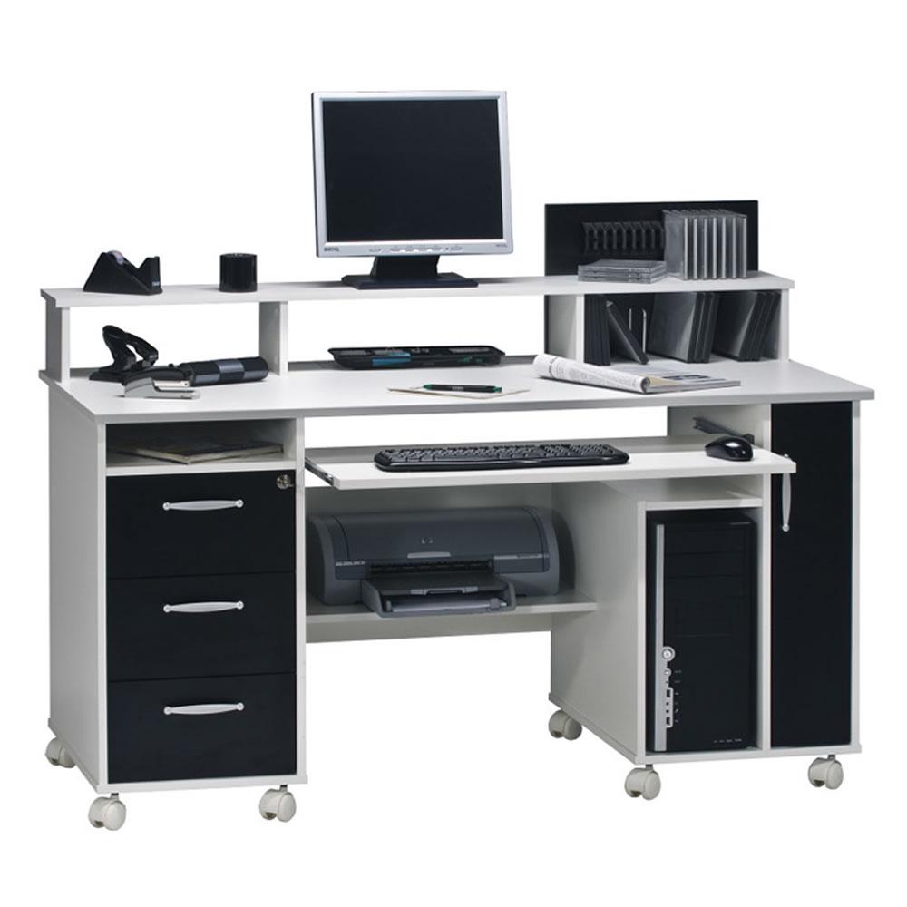 computer und schreibtisch 9475 mit monitoraufsatz. Black Bedroom Furniture Sets. Home Design Ideas
