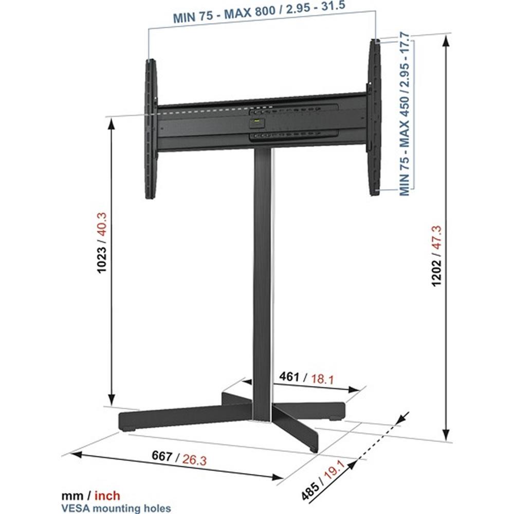 standfu f r plasma lcd led tv vogels eff 8330 motion. Black Bedroom Furniture Sets. Home Design Ideas