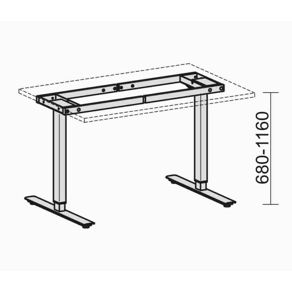 elektrisch h henverstellbarer schreibtisch elektro flex breite 1800 mm s 08a1808. Black Bedroom Furniture Sets. Home Design Ideas