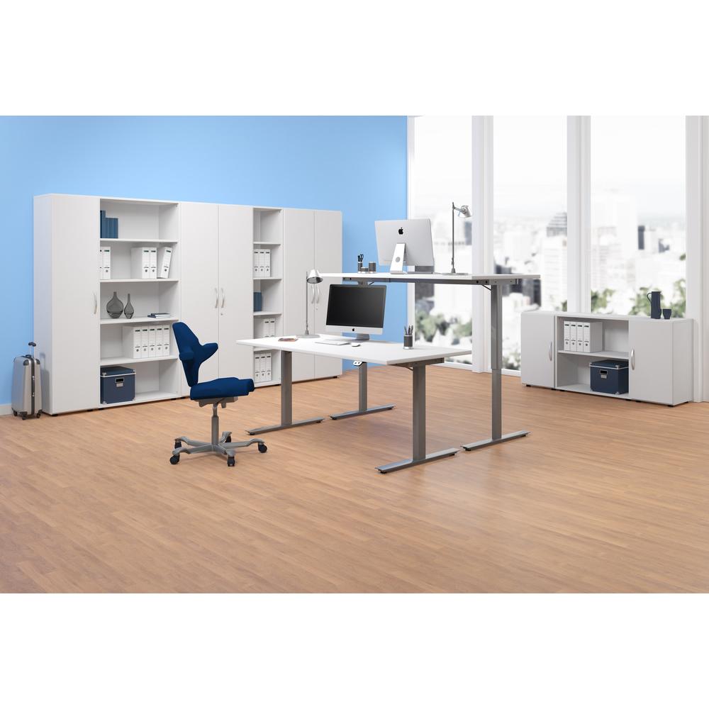 Schreibtisch Nussbaum Weiß 2021