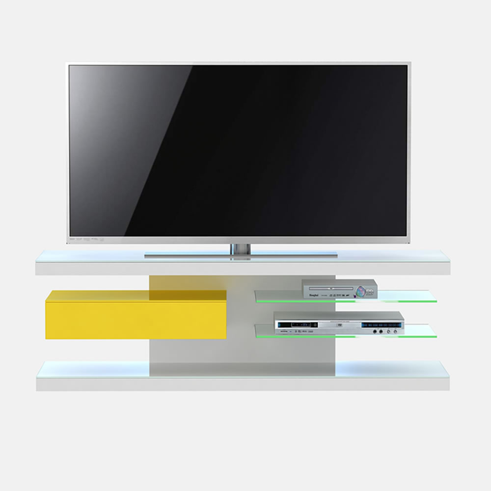 jahnke sl 660 led lcd tv rack lemon hochglanz weiss 86vw60. Black Bedroom Furniture Sets. Home Design Ideas