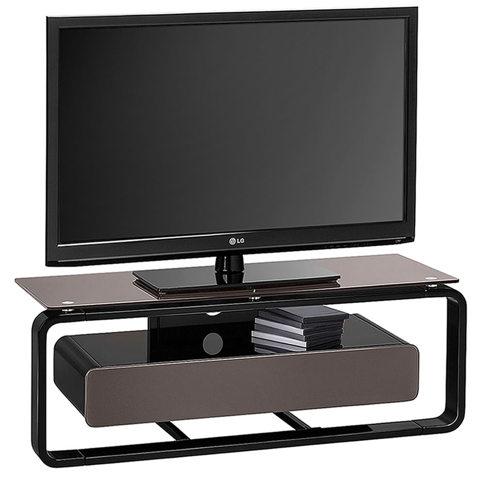 tv rack mediaconcept mit schubkorpus breite 110 cm. Black Bedroom Furniture Sets. Home Design Ideas