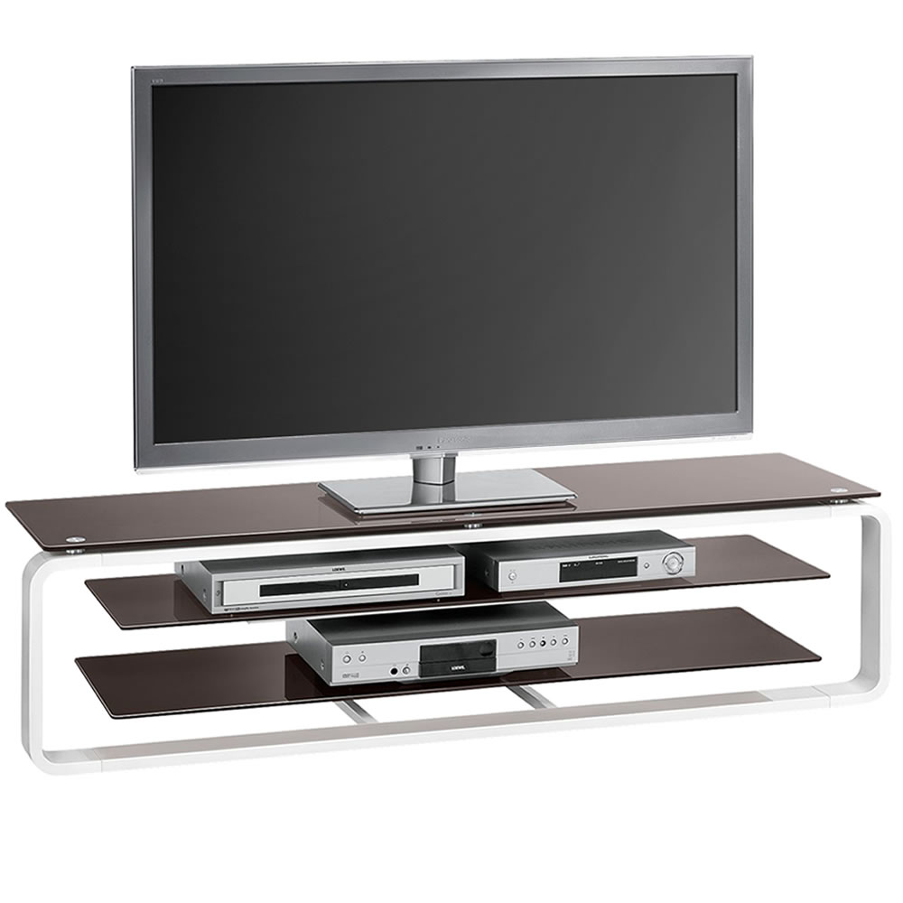 tv rack mediaconcept mit ablagen breite 150 cm hochglanz weiss lava tvmc 12625604. Black Bedroom Furniture Sets. Home Design Ideas