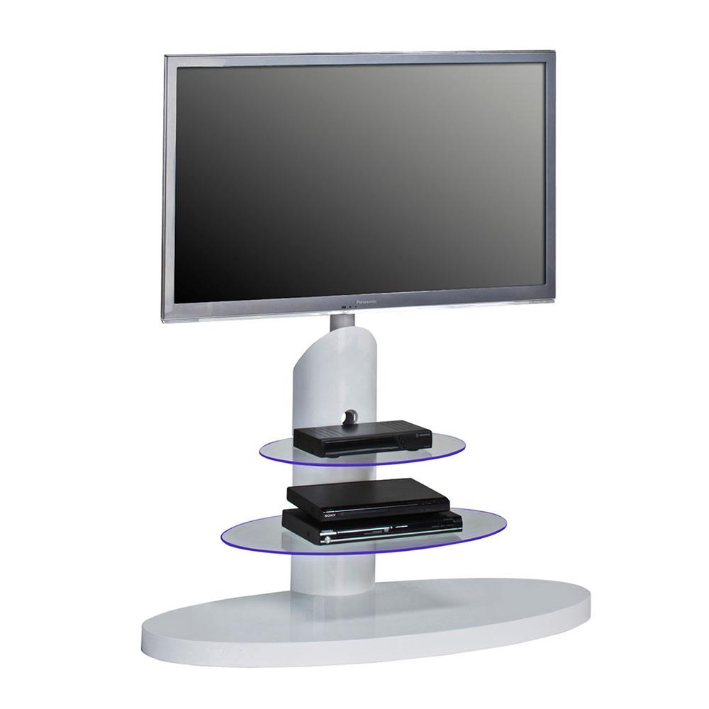 tv standfu 1636 mit led beleuchtung f r glasb den wei. Black Bedroom Furniture Sets. Home Design Ideas