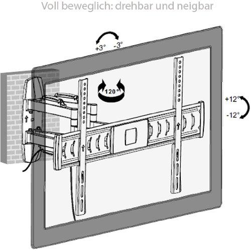 ml1003 vollbewegliche monitor wandhalterung 32 70 zoll. Black Bedroom Furniture Sets. Home Design Ideas