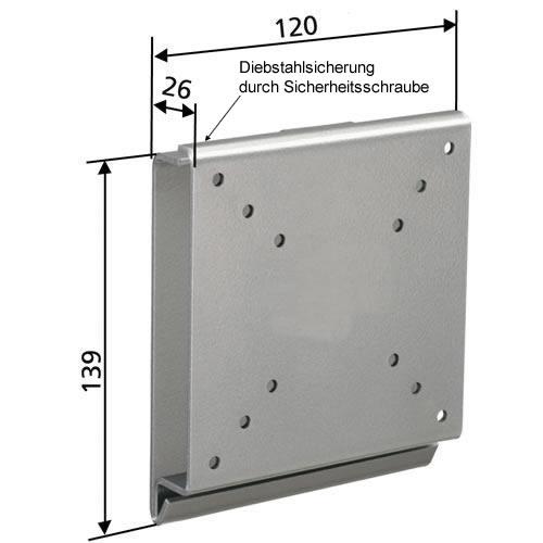 tv wandhalterung mm030 mit diebstahlschutz f r 10 30 zoll. Black Bedroom Furniture Sets. Home Design Ideas