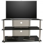 VCM LCD LED TV Rack Olopa XXL Schwarzglas