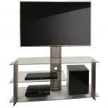 VCM LCD LED TV Rack mit Halterung Bulmo für 32 - 50 Zoll Klarglas