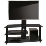VCM LCD LED TV Rack mit Halterung Bulmo für 32 - 50 Zoll Schwarzglas