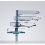 Novus vier Ablageschalen CopySwinger IV mit Zwingenbefestigung l Silber / Anthrazit