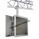 Traversenhalter für zwei große Monitore Vogels PFC9092SET-L Silber / 80 cm