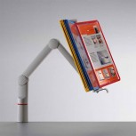 Novus ViewMaster Fix mit Kunststoffgelenkarm Silber / Anthrazit