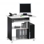 Computertisch 4024 mit Tonnenprofil Schwarz