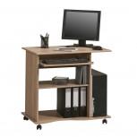 Computertisch 4024 mit Tonnenprofil Sonoma-Eiche (Saegerau)