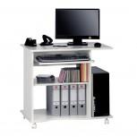 Computertisch 4024 mit Tonnenprofil Weiß