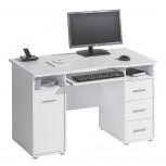 Schreib- und Computertisch 4029 Weiß