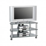 Maja 1610 Alu TV-Rack Klarglas 950mm Breite