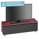 Lowboard SoundConcept mit Akustikstofffront Breite 140 cm